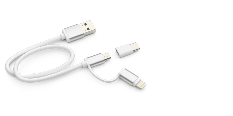 Vista - USB Ladegerät mit Logo