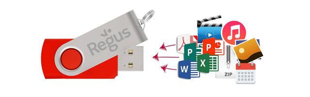 Flash Drive Datenaufspielung