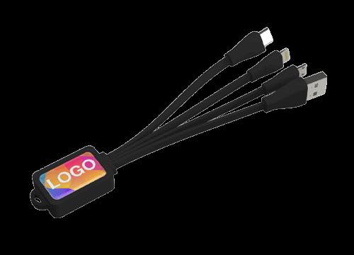 Multi - Bedrucktes Octopus USB-Ladekabel Set