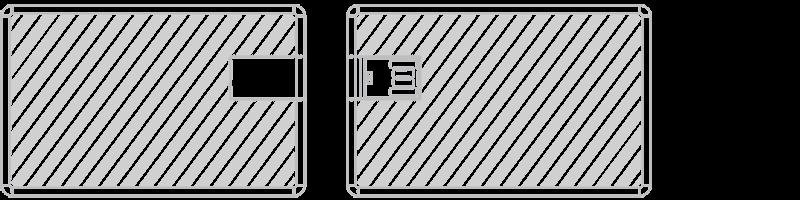 USB Karte Siebdruck