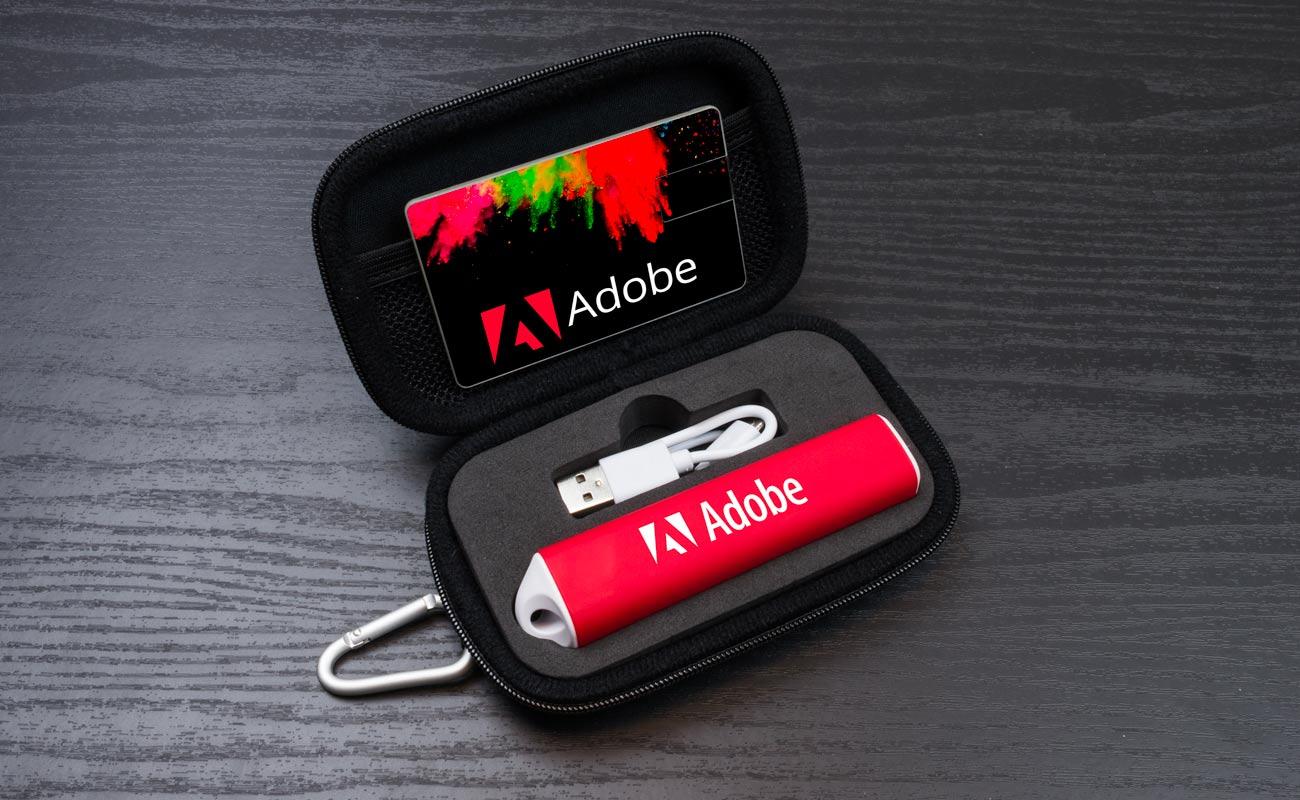 Impact S - USB Stick Bedrucken und Powerbank Mit Gravur