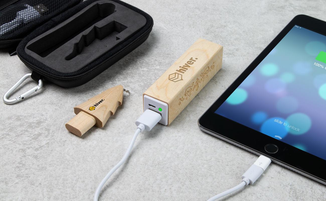 Noel S - USB Stick Bedrucken und Powerbank Mit Gravur