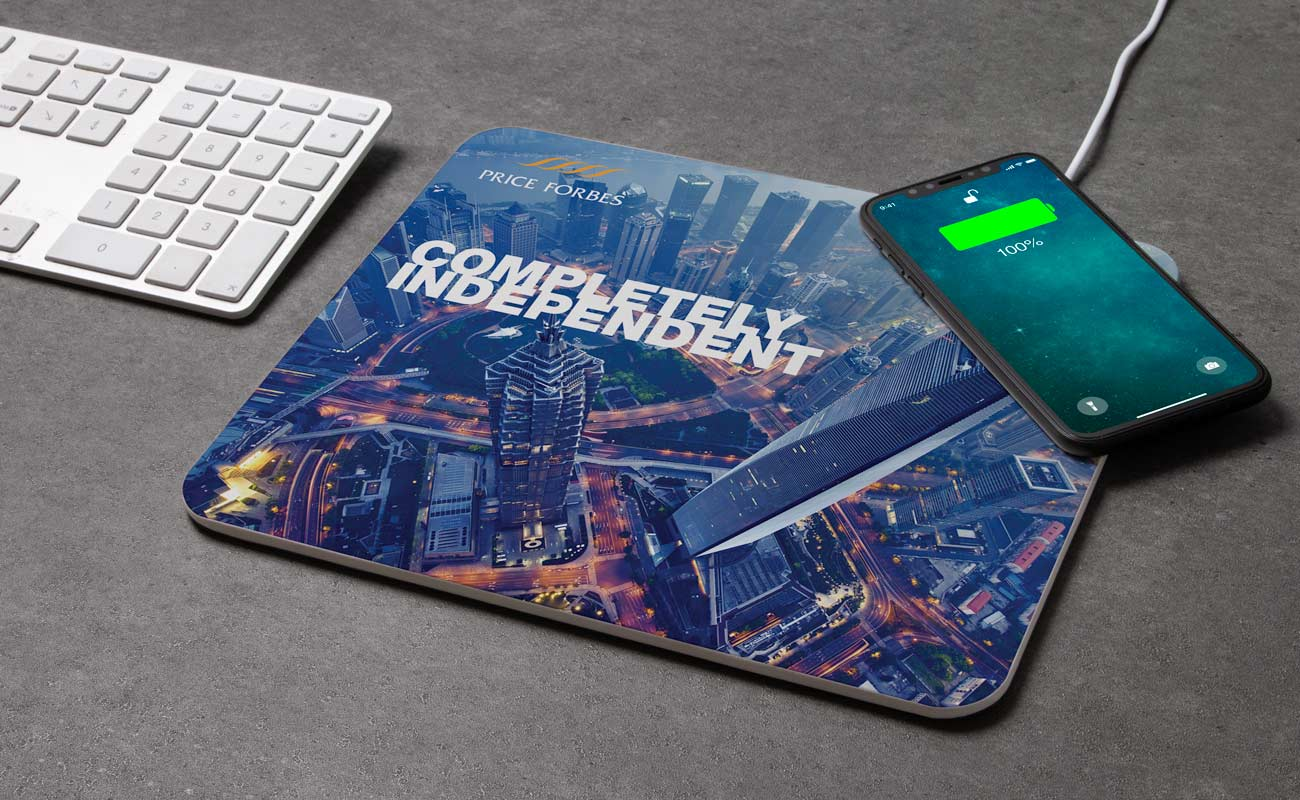 Stage - Personalisiertes Mousepad Kabelloses Ladegerät
